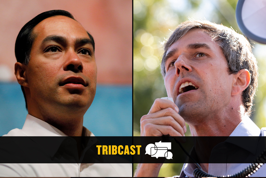 From left: Former Housing and Urban Development Secretary Julián Castro and former U.S. Rep. Beto O'Rourke.