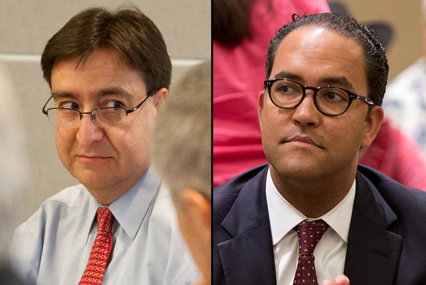 U.S. Rep. Pete Gallego (left), an Alpine Democrat, is facing a challenge from Will Hurd, a former CIA agent, in the race to …