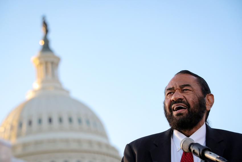Rep. Al Green, D-Houston, speaks during a news conference on Capitol Hill in Washington, D.C. on March 27, 2019.
