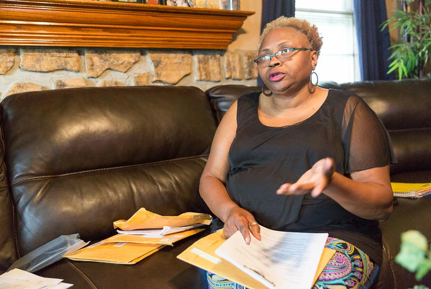 Teresa Hammond, a former corrections officer in the Texas Juvenile Justice Department, broke her knee and suffered other i...
