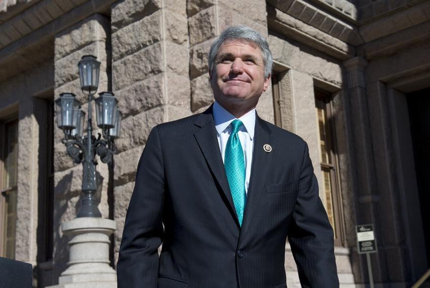 Congressman Michael McCaul visits the Texas Capitol for meetings with Gov. Greg Abbott and Lt. Gov. Dan Patrick on border se…
