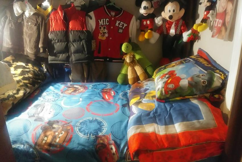 Brayan's room in El Salvador.