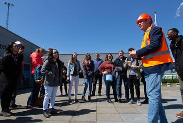 Graduate students from A&M, Rice and Jackson State universities get a tour of the Maeslantkering.