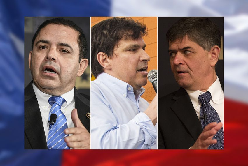 Left to right: U.S. Reps. Henry Cuellar, D-Laredo; Vicente Gonzalez, D-McAllen; and Filemon Vela, D-Brownsville.