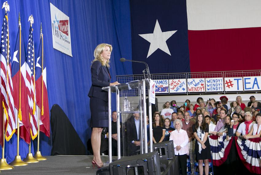 State Sen. Wendy Davis announces her candidacy for governor on Oct. 3, 2013, in Haltom City.