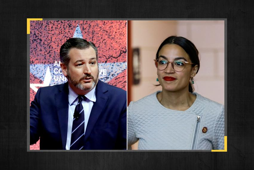 U.S. Sen. Ted Cruz and U.S. Rep. Alexandria Ocasio-Cortez, D-New York.