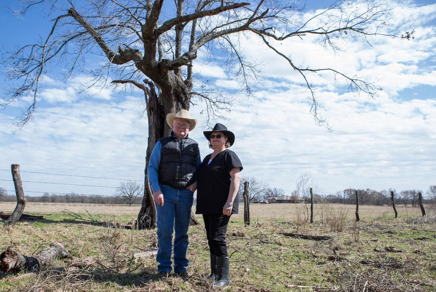 "Harold ""Thump"" Witcher Jr., a Fannin County native, and his wife, Patty, live on 485 acres of farmland that sits in an are..."