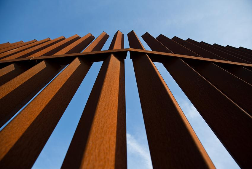 A section of the border fence in the Rio Grande Valley.
