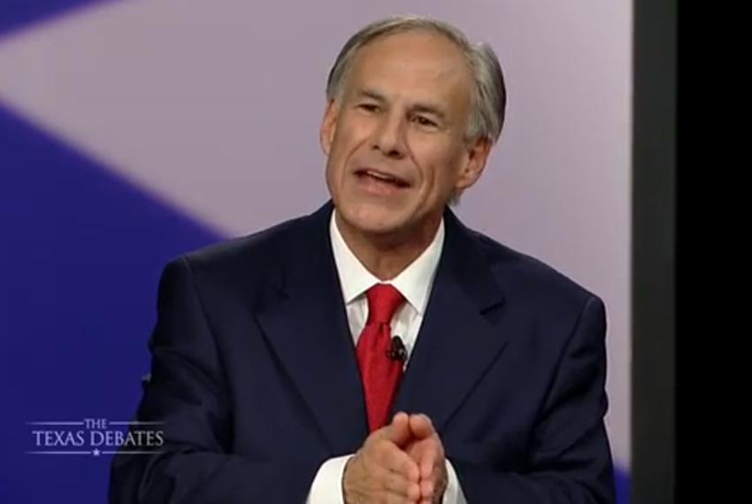Attorney General Greg Abbott in his second and final gubernatorial debate with state Sen. Wendy Davis, D-Fort Worth in Dalla…