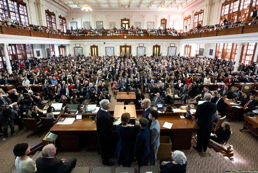 Republican Texas House Speaker Dennis Bonnen was sworn in to office on the first day of the 2019 legislative session in January. His party now turns its eye to the 2020 election cycle during which Democrats only need to win nine House seats to take a majority in the lower chamber.