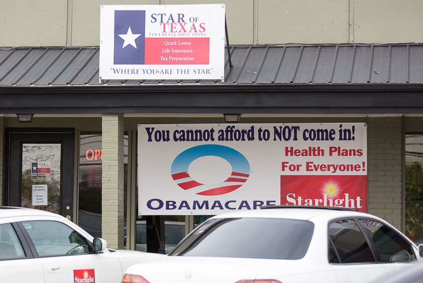 Obamacare sign up in east Austin on Dec. 1, 2015.