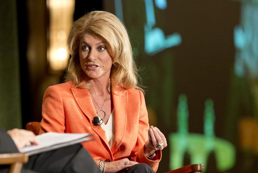 State Sen. Wendy Davis, D-Fort Worth, the Democratic nominee in the 2014 Texas governor's race, Spoke at The Texas Tribune...