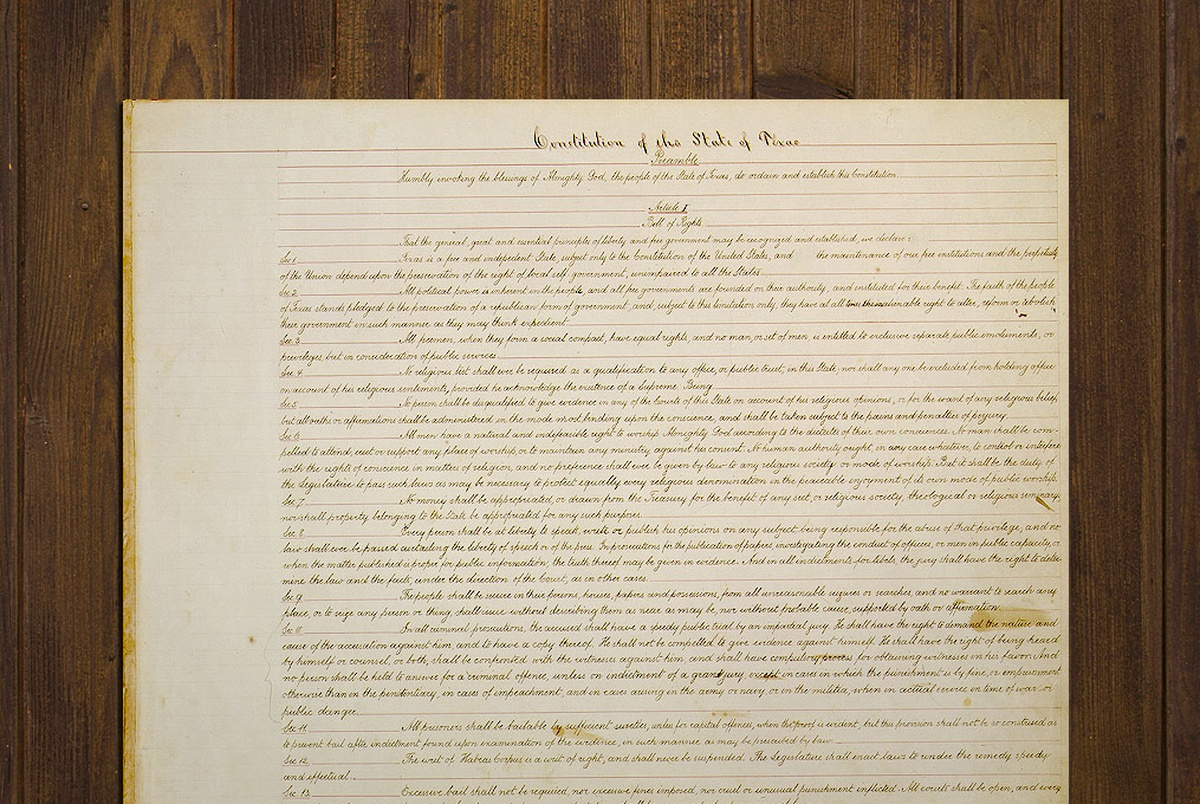 Texplainer: Why is the Texas Constitution So Long? | The