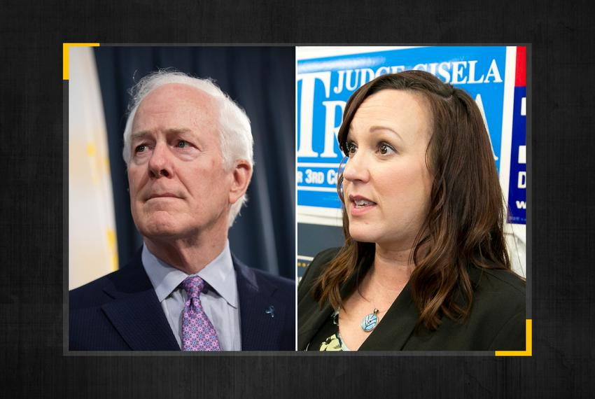 Republican U.S. Sen. John Cornyn and Democratic challenger MJ Hegar.