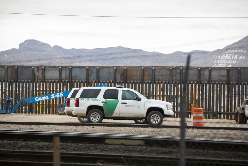 The Border Patrol is seen along the border fence between El Paso and Juarez on Sunday, February 10, 2019, in El Paso, Texas.…