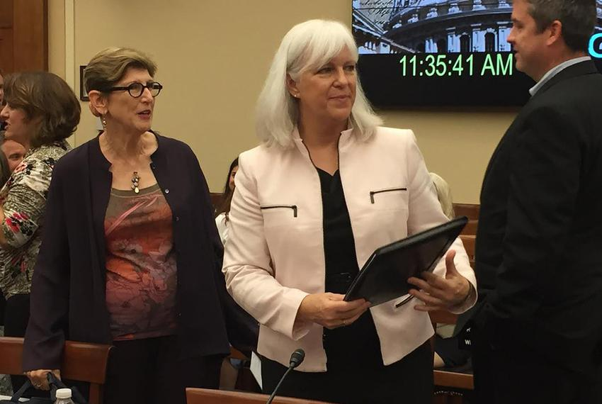 Rachel Robillard, who oversees dyslexia intervention for the Austin Independent School District, at a Capitol Hill hearing o…