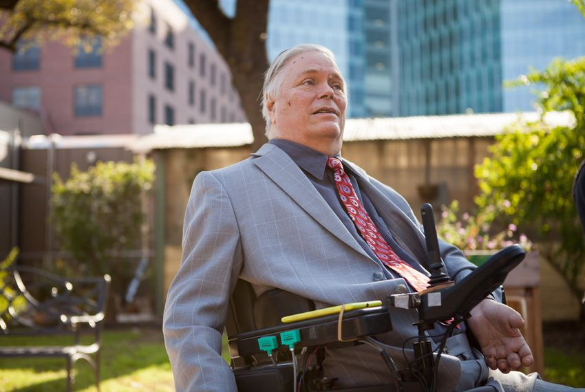Lex Frieden is a disability advocate and a professor at the University of Texas Health Science Center at Houston, where he was treated after a 1967 car accident that left him paralyzed from the shoulders down. Frieden's advocacy helped shape the Americans with Disabilities Act.