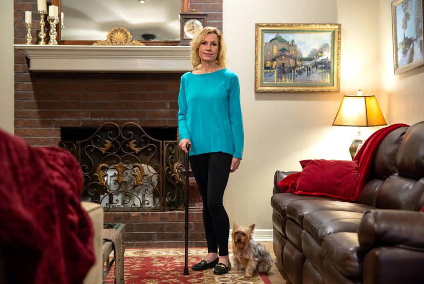 Flo Rice, 56, was shot in her legs at a school shooting in Santa Fe that left 10 dead and 13 injured. She now walks with a...