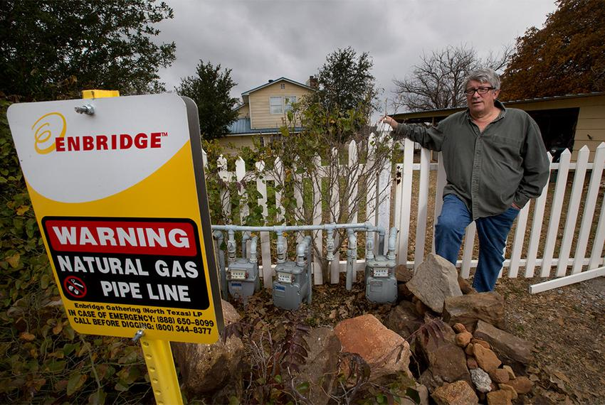Some rural Texans, including Jon Salis, have been getting untreated natural gas that can freeze up and, in rare cases, pol...