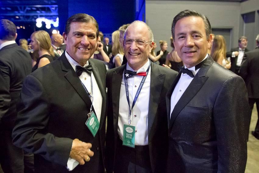 State Sens. Eddie Lucio, Bob Hall and Carlos Uresti at the ball.