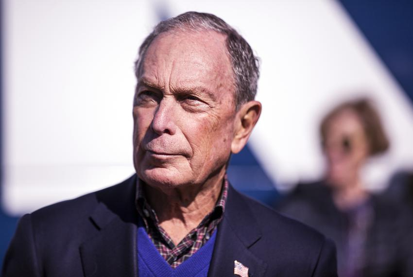 Democratic presidental candidate Michael Bloomberg at his rally at Central Machine Works in East Austin on Jan. 11, 2020.