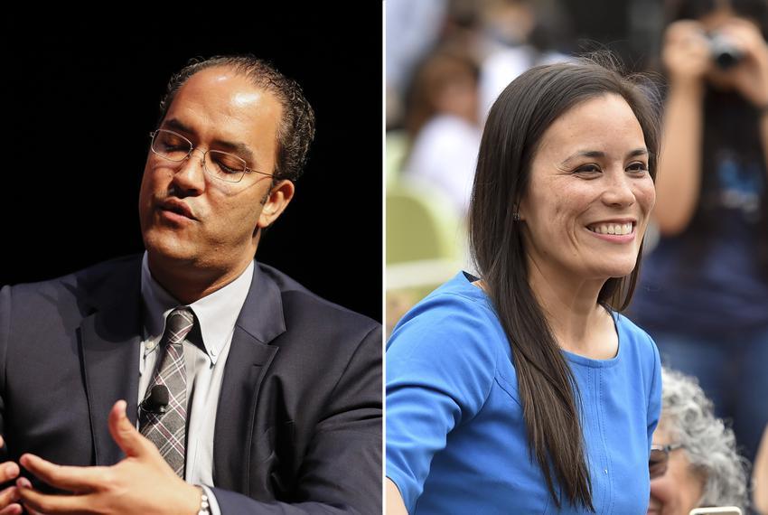 U.S. Rep. Will Hurd, R-Helotes, and his challenger, Democratic nominee Gina Ortiz Jones.
