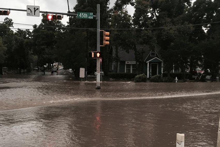Flooding in Austin, May 26, 2015.