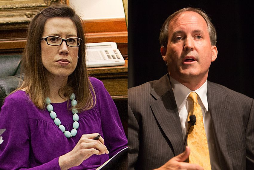 Allison Castle, left, resigned in March 2016 from her position as senior communications director for Texas Attorney General Ken Paxton, right.