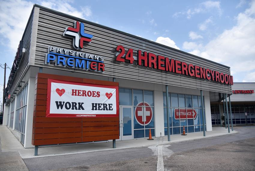 Physicians Premier Emergency Room in Austin on Aug. 31, 2020.