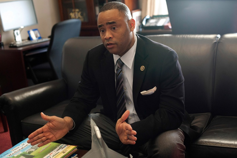 U.S. Rep. Marc Veasey, a Forth Worth Democrat, in his D.C. office.