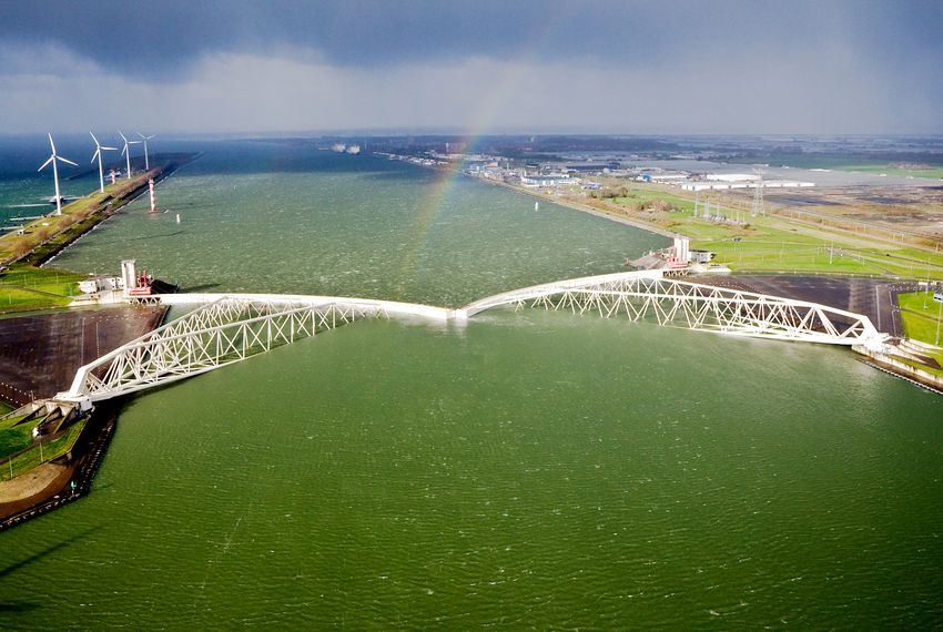 The Maeslantkering, the fifth and last storm surge barrier to be built in the Netherlands, guards the Port of Rotterdam, the busiest port in Europe. The U.S. Army Corps of Engineers and Texas General Land Office are looking to the Maeslant for inspiration as they fine-tune a hurricane protection plan for the Houston-Galveston region.