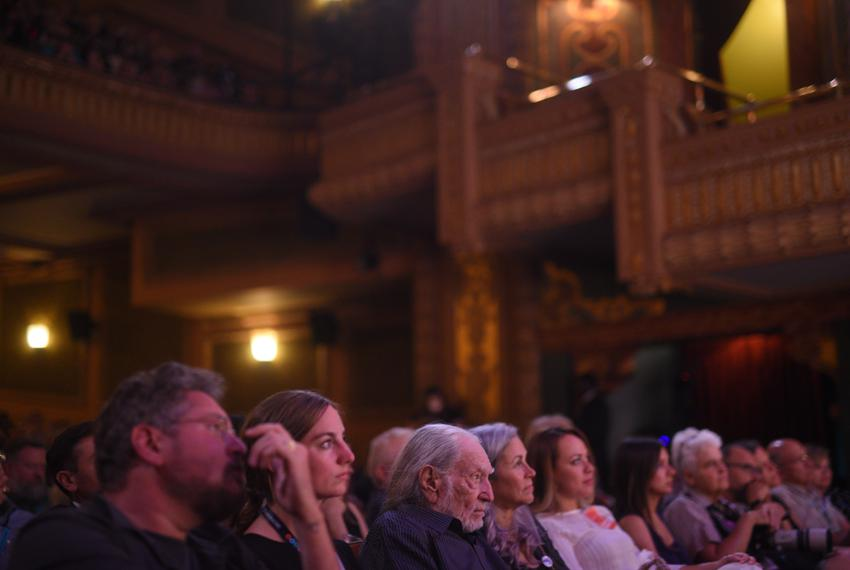Texas Tribune CEO Evan Smith interviews House Speaker Nancy Pelosi at The Texas Tribune Festival on Saturday, Sept. 28, 2019.
