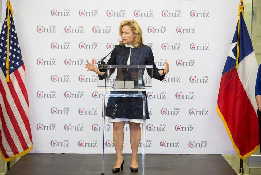 Heidi Cruz campaigns for her husband in Beaumont, Texas on Friday, February 26, 2016.