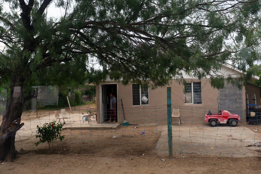 A home in the El Cenizo colonia in Laredo, TX. August 23, 2013.