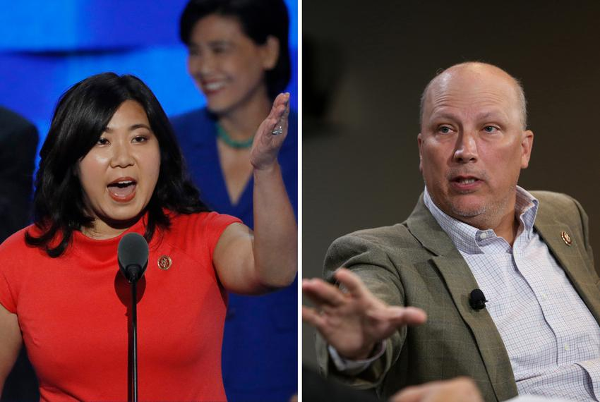 From left, U.S. Rep. Grace Meng, D-New York, and U.S. Rep. Chip Roy, R-Texas.