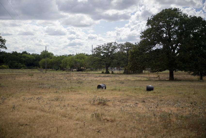 A ranch on Tuesday, July 21, 2020 in Gonzales. A recent study says droughts could be a major problem affecting ranchers in T…