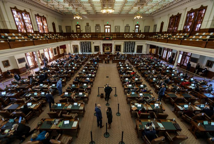 The Texas House of Representatives on Jan. 13, 2021.