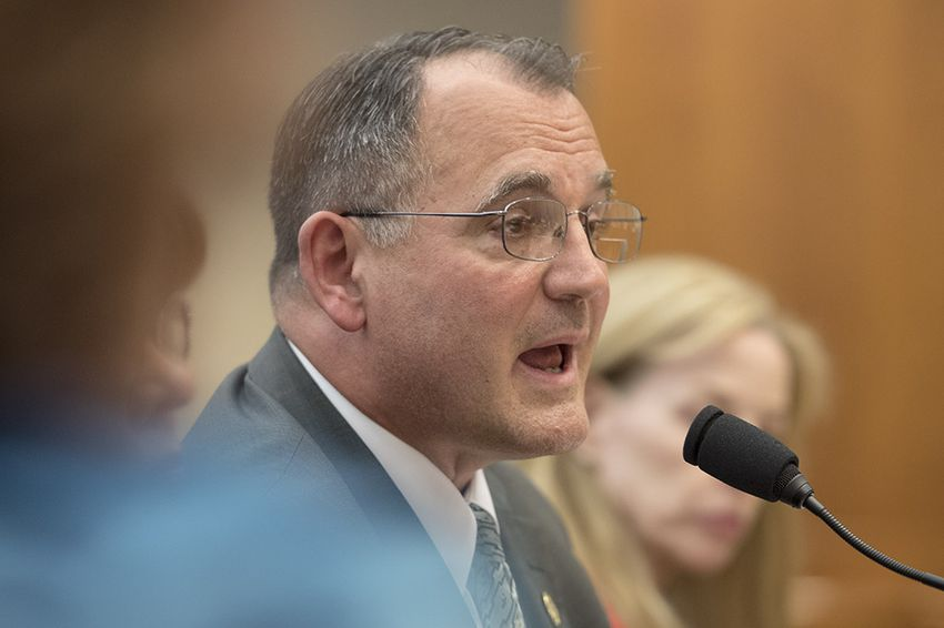 Ed Swedberg, deputy executive director of the Texas Alcoholic Beverage Commission, answers questions during the House Committee on General Investigating & Ethics meeting on April 13, 2017. The committee was investigating TABC out-of-state travel to conference at taxpayer expense.