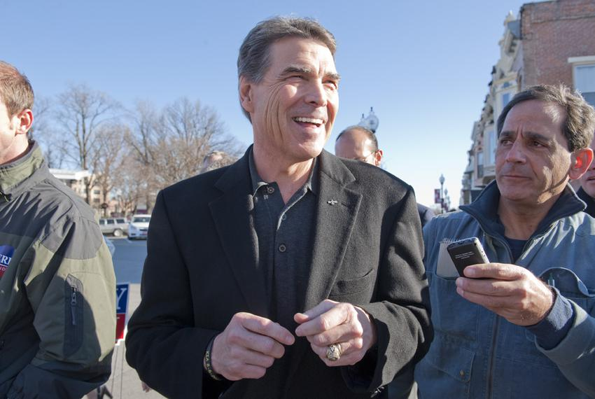 Gov. Rick Perry in Iowa on Dec. 29, 2011.