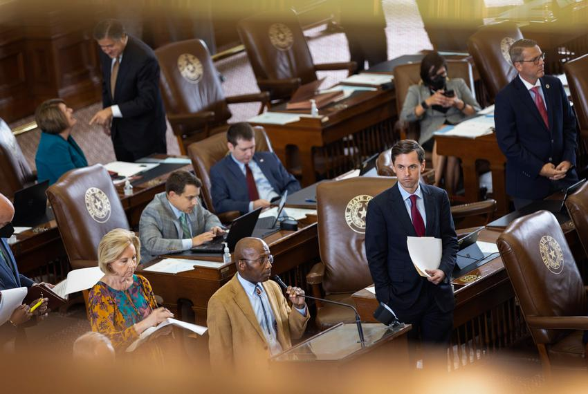State Representatives on the House floor debate over amendments to HB 1 on Oct. 12, 2021.