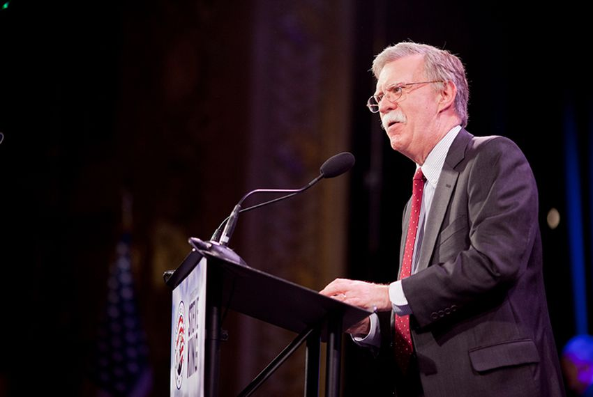 John Bolton, a former U.S. ambassador to the United Nations and possible 2016 presidential contender, spoke at the Iowa Freedom Summit in Des Moines on Jan. 24, 2015.