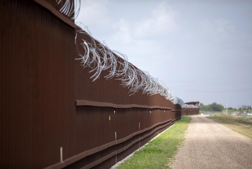 Border fence in Donna on June 27, 2019.