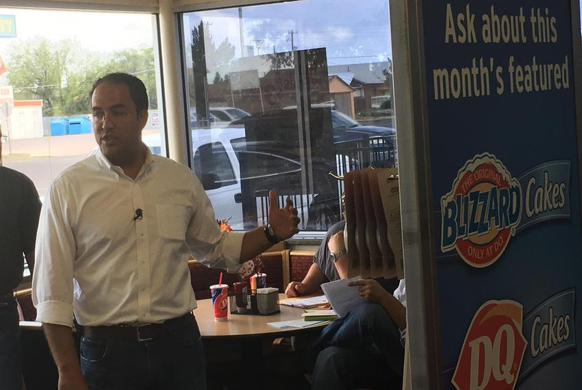 U.S. Rep. Will Hurd, R-Helotes, holds a town hall on Aug. 7, 2017, at a Dairy Queen in Fort Stockton. Hurd was making a six-…