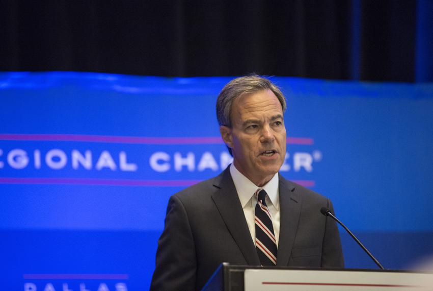 Joe Straus, Texas Speaker of the House, at an 85th Legislative Session preview at the Dallas Regional Chamber on Sept. 13, 2…