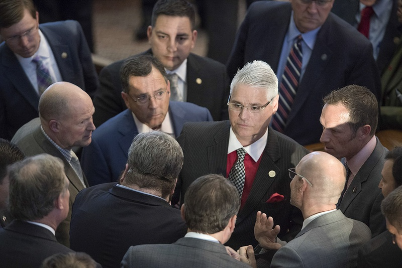 State Rep. Dan Huberty, R-Houston, chairman of the HousePublic Education Committee, after his bill overhauling Texas' school finance system was approved on second reading on April 19, 2017.
