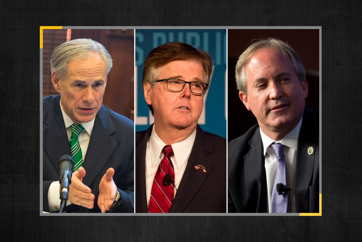 Three top Texas GOP officials who oppose expanding mail-in voting have each used it