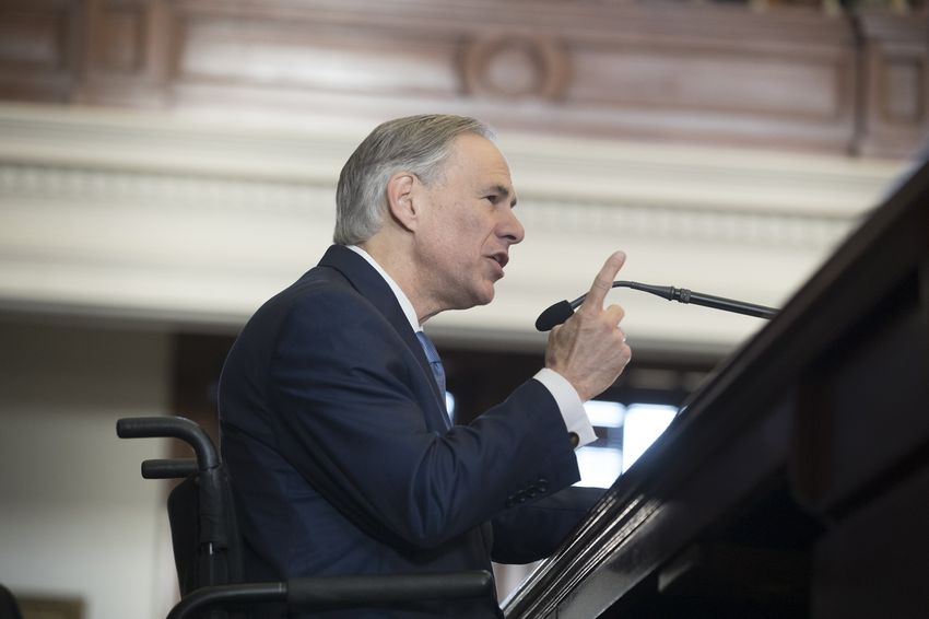 Gov. Greg Abbott speaks to the House on the opening Day of the 85th legislative session, Jan. 10, 2017.