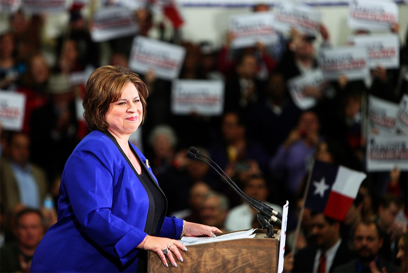 State Sen. Leticia Van de Putte announcing her run for lieutenant governor at San Antonio College on Nov. 23, 2013.