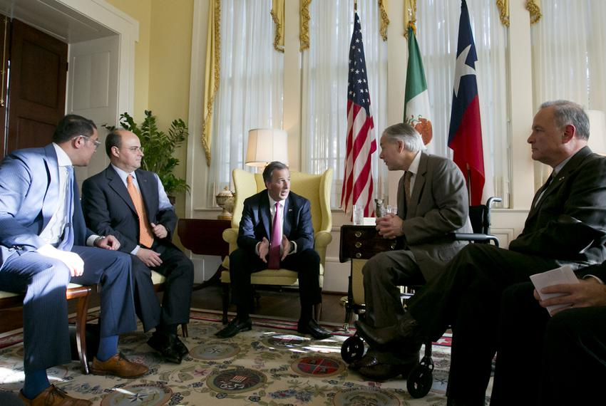 (left to right)  Assistant Secretary of State for Mexican and Border Affairs Avdiel Huerta, Undersecretary for North America…