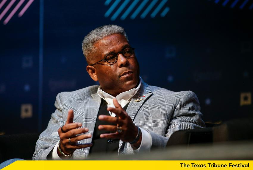 Allen West at The Texas Tribune Festival on Sept. 24, 2016